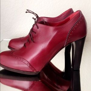 A. Testoni Red Booties